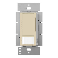 Ivory - Passive Infrared (PIR) Vacancy Sensor with Dimmer - 600W Max. - 120 Volt