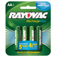 Rayovac - AA Size - Rechargeable NiMH Battery - 4 Pack