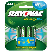 Rayovac - AAA Size - Rechargeable NiMH Battery - 4 Pack - PL724-4-GENB