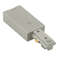 Brushed Nickel - Live End Feed - Single Circuit - Compatible with Halo Track - WAC Lighting HLE-BN