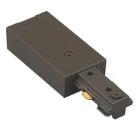Dark Bronze - Live End Feed - Single Circuit - Compatible with Halo Track - WAC Lighting HLE-DB