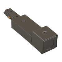 WAC Lighting HBXLE-DB - Dark Bronze - Live End BX Feed - Single Circuit - Compatible with Halo Track
