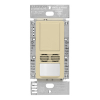 Ivory - Passive Infrared (PIR) Ultrasonic Occupancy Sensor - 6 Amp Max. - 120-277 Volt