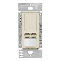 Light Almond - Passive Infrared (PIR) Ultrasonic Occupancy Sensor - 6 Amp Max. - 120-277 Volt