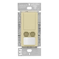 Almond - Passive Infrared (PIR) Ultrasonic Vacancy Sensor - 6 Amp Max. - 120-277 Volt - Neutral Required