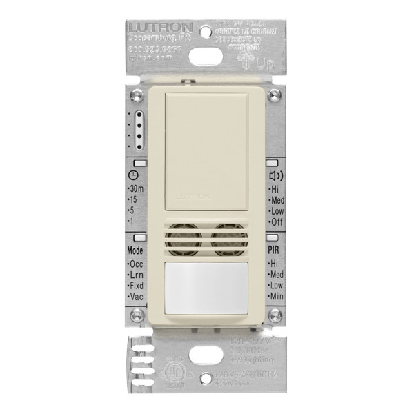 Lutron Maestro MS-B102-V-LA - Light Almond - Passive Infrared (PIR) Image