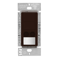 Brown - Passive Infrared (PIR) Ultrasonic Dual Circuit Occupancy Sensor - 6 Amp Max. - 120-277 Volt