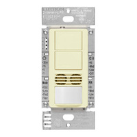 Almond - Passive Infrared (PIR) Ultrasonic Dual Circuit Occupancy Sensor - 6 Amp Max. - 120-277 Volt - Neutral Required