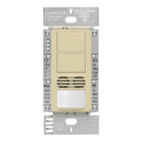 Ivory - Passive Infrared (PIR) Ultrasonic Dual Circuit Occupancy Sensor - 6 Amp Max. - 120-277 Volt - Neutral Required