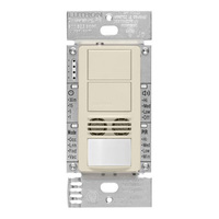 Light Almond - Passive Infrared (PIR) Ultrasonic Dual Circuit Occupancy Sensor - 6 Amp Max. - 120-277 Volt - Neutral Required