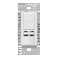 White - Passive Infrared (PIR) Ultrasonic Dual Circuit Occupancy Sensor - 6 Amp Max. - 120-277 Volt - Neutral Required