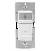 WH/IV/Lt. Almond - Passive Infrared (PIR) Occupancy/Vacancy Sensor - 1800W Max. - 120 Volt - Neutral Required