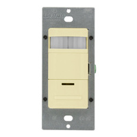 Occupancy Self-Adaptive Sensor - Passive Infrared (PIR) - Ivory - 1800 Watt Maximum - 120-277 Volt - Leviton ODS15-IDI