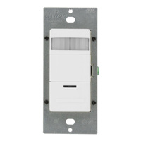 Occupancy Self-Adaptive Sensor - Passive Infrared (PIR) - White - 1800 Watt Maximum - 120-277 Volt - Leviton ODS15-IDW