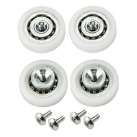 Extreme Duty Trolley Wheel Replacement Kit - 4 Pack - For Lightrail 3.0,3.5,4.0 Tracks