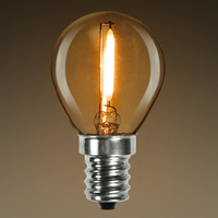 LED - Filament Type - 0.3 Watt - S11 - 7 Watt Equal - 2400K Warm Glow - Dimmable - Candelabra Base
