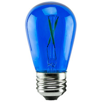 1 Watt - Dimmable LED - S14 - Blue - 120 Volt - LifeBulb LTS14CBLUE