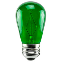 1 Watt - Dimmable LED - S14 - Green - 120 Volt - LifeBulb LTS14CGREEN