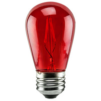 1 Watt - Dimmable LED - S14 - Red - 120 Volt - LifeBulb LTS14CRED