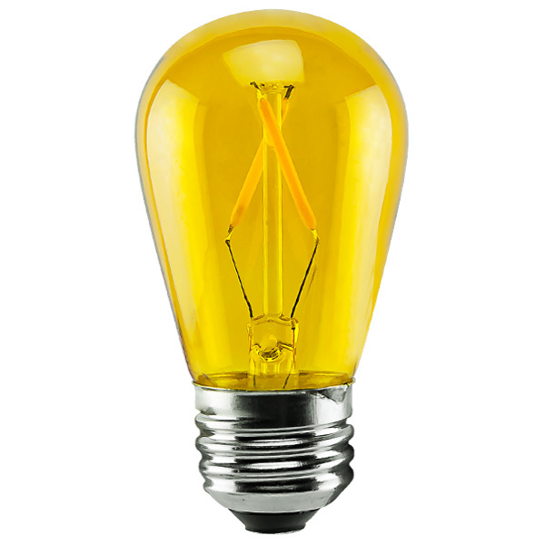1 Watt - Dimmable LED - S14 - Yellow Image