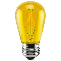 1 Watt - Dimmable LED - S14 - Yellow - 120 Volt - LifeBulb LTS14CYELLOW