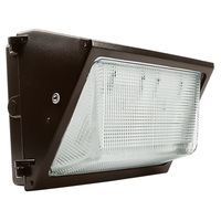 46 Watt - LED - Wall Pack with Photocell - 250W Metal Halide Equal - 5516 Lumens - 5000 Kelvin - 120-277V - 7 Year Warranty