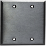 Blank Wall Plate - Stainless Steel - 2 Gang Image