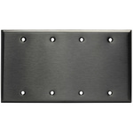 Blank Wall Plate - Stainless Steel - 4 Gang Image