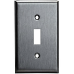 Toggle Wall Plate - Stainless Steel - 1 Gang Image