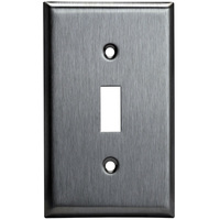 Toggle Wall Plate - Stainless Steel - 1 Gang - Enerlites 7711
