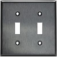 Stainless Steel - 2 Gang - Toggle Wall Plate - Enerlites 7712