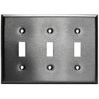 Stainless Steel - 3 Gang - Toggle Wall Plate - Enerlites 7713