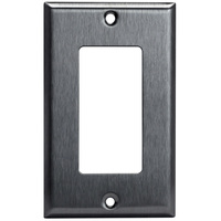 Stainless Steel - 1 Gang - Decorator Wall Plate - Enerlites 7731
