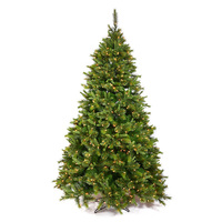 9.5 ft. x 54 in. - Slim Cashmere Fir - 2168 PE/PVC Tips - Pre-lit with 1000 Dura-lit Clear Mini Lights- Vickerman Artificial Christmas Tree