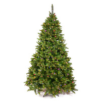 9.5 ft. x 54 in. - Slim Cashmere Fir - 2168 PE/PVC Tips - Pre-lit with 1000 Dura-lit 7-Color Multi Lights- Vickerman Artificial Christmas Tree