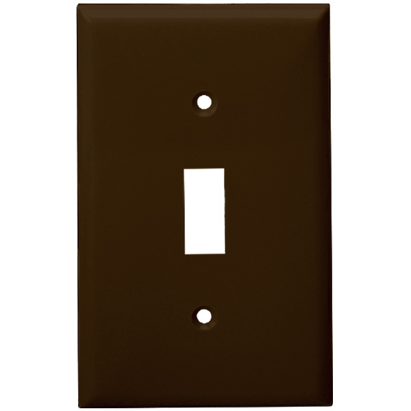 Toggle Wall Plate - Brown - 1 Gang Image