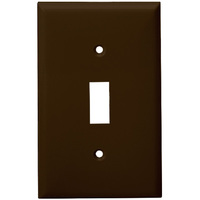 Brown - 1 Gang - Mid-Size - Toggle Wall Plate - Enerlites 8811M-BR