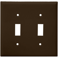 Brown - 2 Gang - Mid-Size - Toggle Wall Plate - Enerlites 8812M-BR