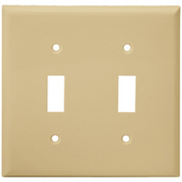 Ivory - 2 Gang - Mid-Size - Toggle Wall Plate - Enerlites 8812M-I