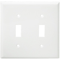 White - 2 Gang - Mid-Size - Toggle Wall Plate - Enerlites 8812M-W