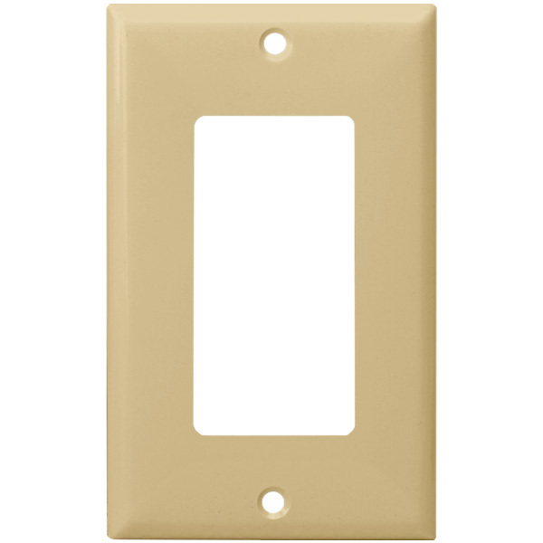 Decorator Wall Plate - Ivory - 1 Gang Image
