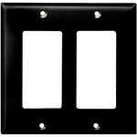 Decorator Wall Plate - Black - 2 Gang Image