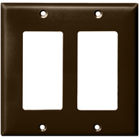 Brown - 2 Gang - Mid Size - Decorator Wall Plate - Enerlites 8832M-BR