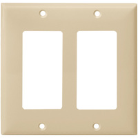 Light Almond - 2 Gang - Mid Size - Decorator Wall Plate - Enerlites 8832M-LA