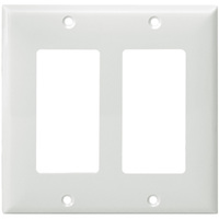 White - 2 Gang - Mid Size - Decorator Wall Plate - Enerlites 8832M-W