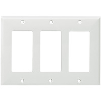 White - 3 Gang - Mid Size - Decorator Wall Plate - Enerlites 8833M-W