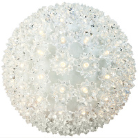 LED - Warm White Starlight Sphere - Utilizes 100 Wide Angle LED Lights - 7.5 in. dia. - Green Wire - Indoor/Outdoor - 120 Volt