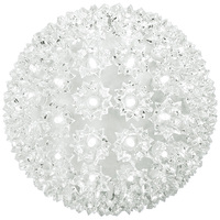 LED - Cool White Starlight Sphere - Utilizes 100 Wide Angle LED Lights - 7.5 in. dia. - Green Wire - Indoor/Outdoor - 120 Volt