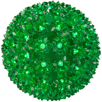 (100) Green Wide Angle LED Lights - 7.5 in. dia. Starlight Sphere - Green Wire - Indoor/Outdoor - 120 Volt