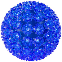 LED - Blue Starlight Sphere - Utilizes 100 Wide Angle LED Lights - 7.5 in. dia. - Green Wire - Indoor/Outdoor - 120 Volt